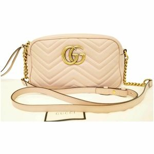 GUCCI GG Marmont Matelasse Leather Crossbody Bag